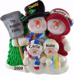Top Hat Snow Family for 4 with Tree