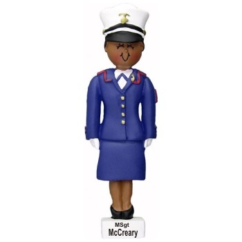 African-American Female Dress Blue Marine