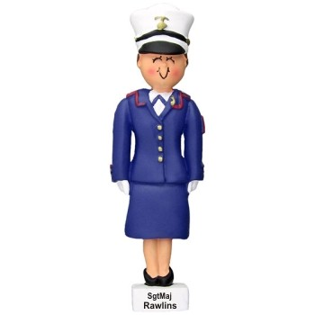 Brunette Female Dress Blue Marine