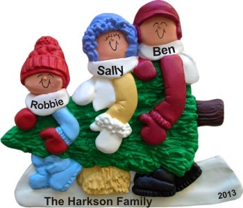 Family Carrying Tree Family of 3