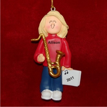 Saxophone Virtuoso, Female Blonde Hair
