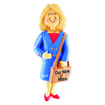 Business School Graduation Gift Idea Female Blonde Hair