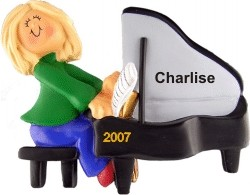 Piano Virtuoso Female Blonde Hair