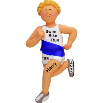 Triathlon Runner Male Blond