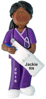 Nurse Graduate in Scrubs African American Female