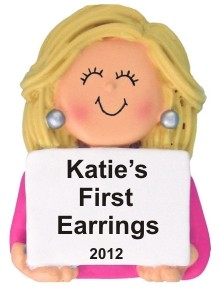 My First Earrings Female Blond