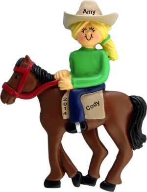 Horseback Fun Female Blond