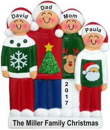 Holiday Sweaters Family of 4