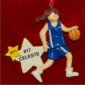 Brunette Girl Basketball Star