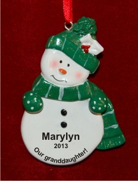 Green Snowman for Granddaughter