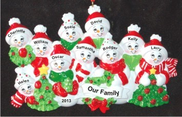 Snow Family with Tree for 10