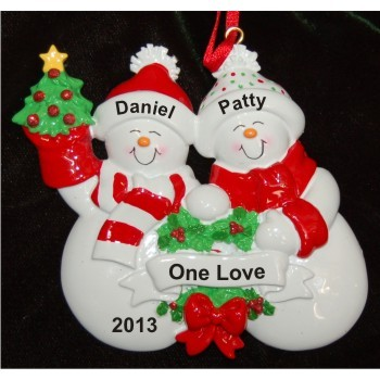 Snow Family with Tree for 2