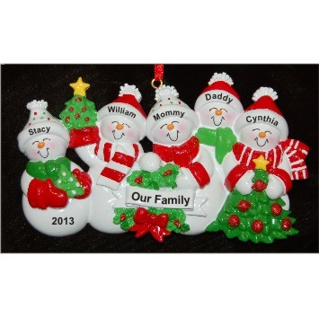 Snow Family with Tree for 5