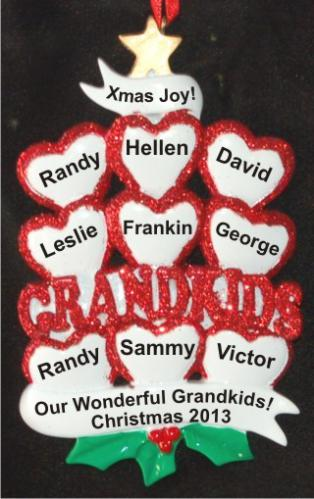 9 Grandkids - Loving Hearts at Christmas