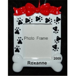 Paw Prints Dog House Photo Frame