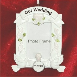White Wedding Photo Frame
