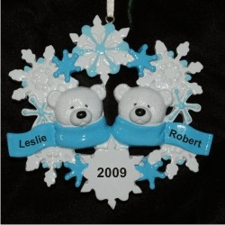 Polar Bear Snowflake, Family of 2