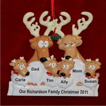 Reindeer Family of 6