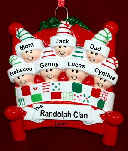 Family Christmas Ornament Winter Fun for 7 Personalized FREE by Russell Rhodes