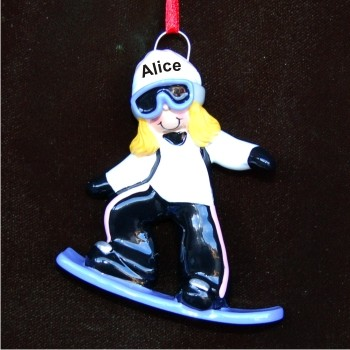 Blond Girl Snowboard