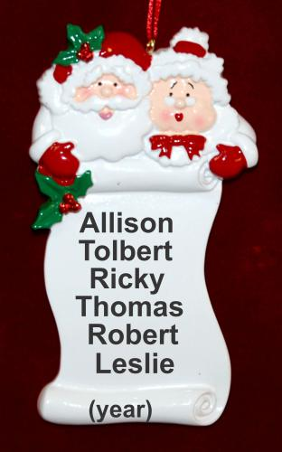 Nana's Good List Christmas Ornament up to 6 Personalized FREE by Russell Rhodes