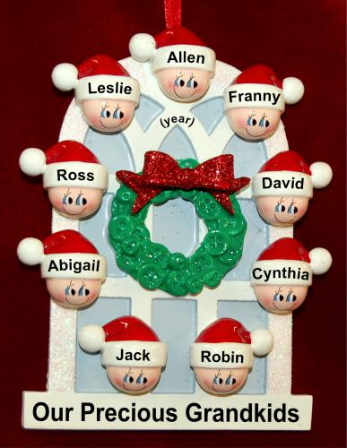 Grandparents Christmas Ornament Arched Holiday Window for 9 Personalized FREE by Russell Rhodes