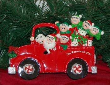 Santa's Fire Engine Tabletop: Our Family of 7