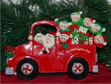 Santa's Fire Engine Tabletop: Our Family of 8