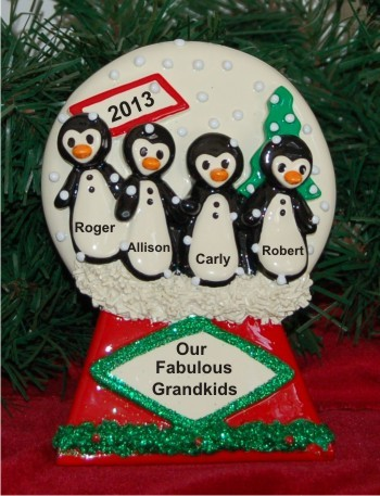 Our 4 Grandkids Penguin Tabletop