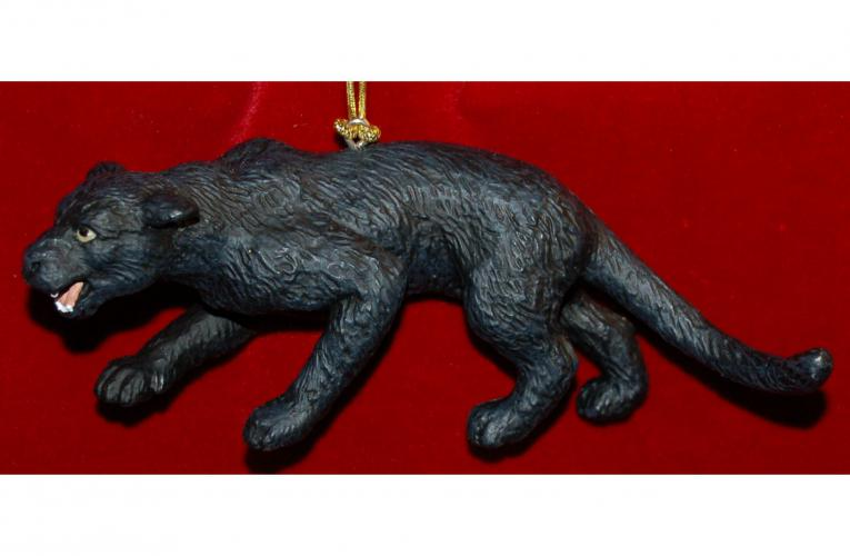 Black Panther Christmas Ornament by Russell Rhodes