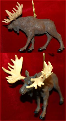 Personalized Moose Christmas Ornament by Russell Rhodes